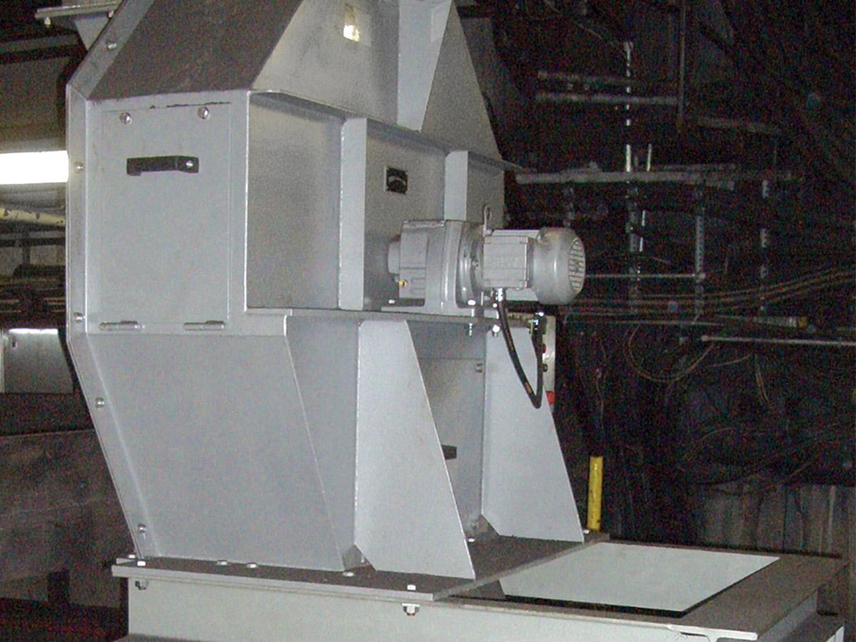 Rotationsteiler in einer Anlage mit nachfolgender Einwalzenmühle