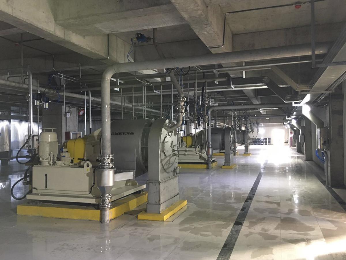 SHS für Mono-Natriumglutamat, Anlagenbild, seitliche Ansicht
