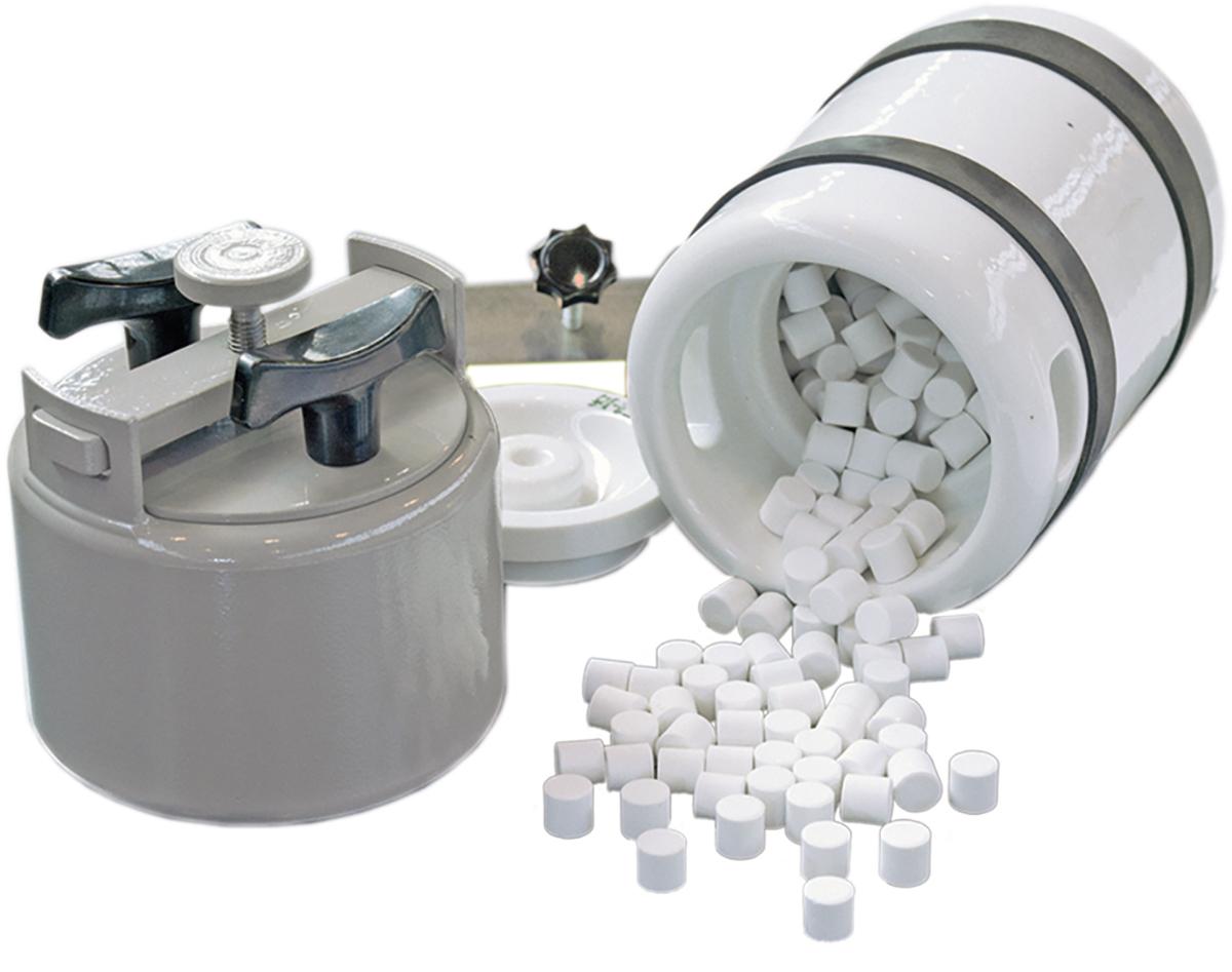 Gefäßschwingmühle GSM 06 Stahl- und Porzellanmahlgefäß mit Mahlkörpern