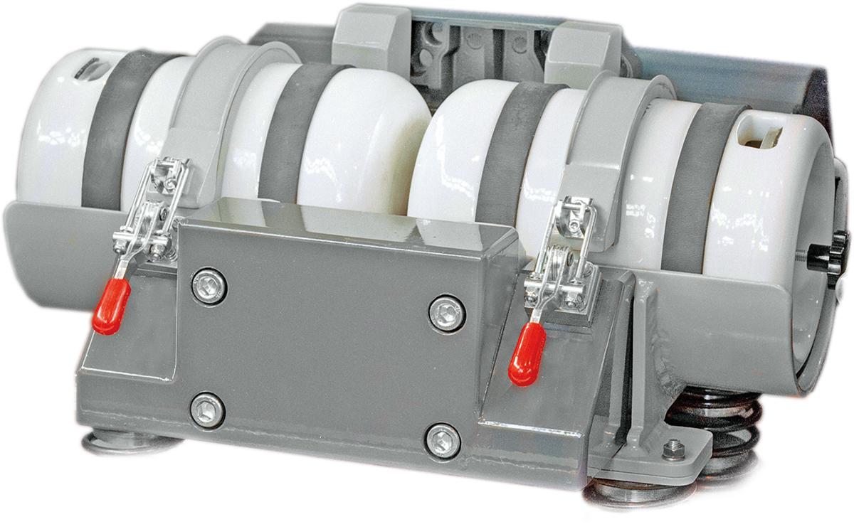 Gefäßschwingmühle GSM 06 Innenansicht