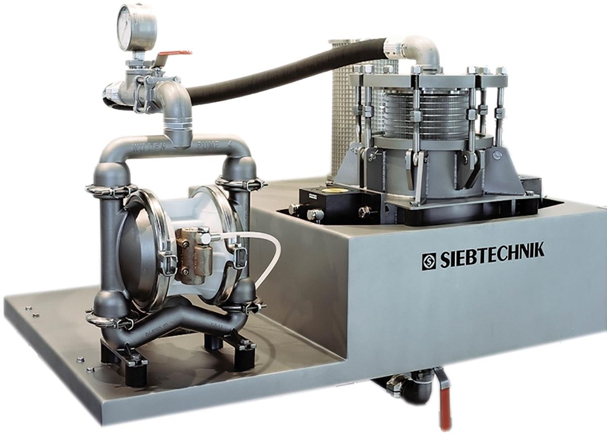 Suspensionskontrollsiebmaschine SKS 202 - mit Membranpumpe