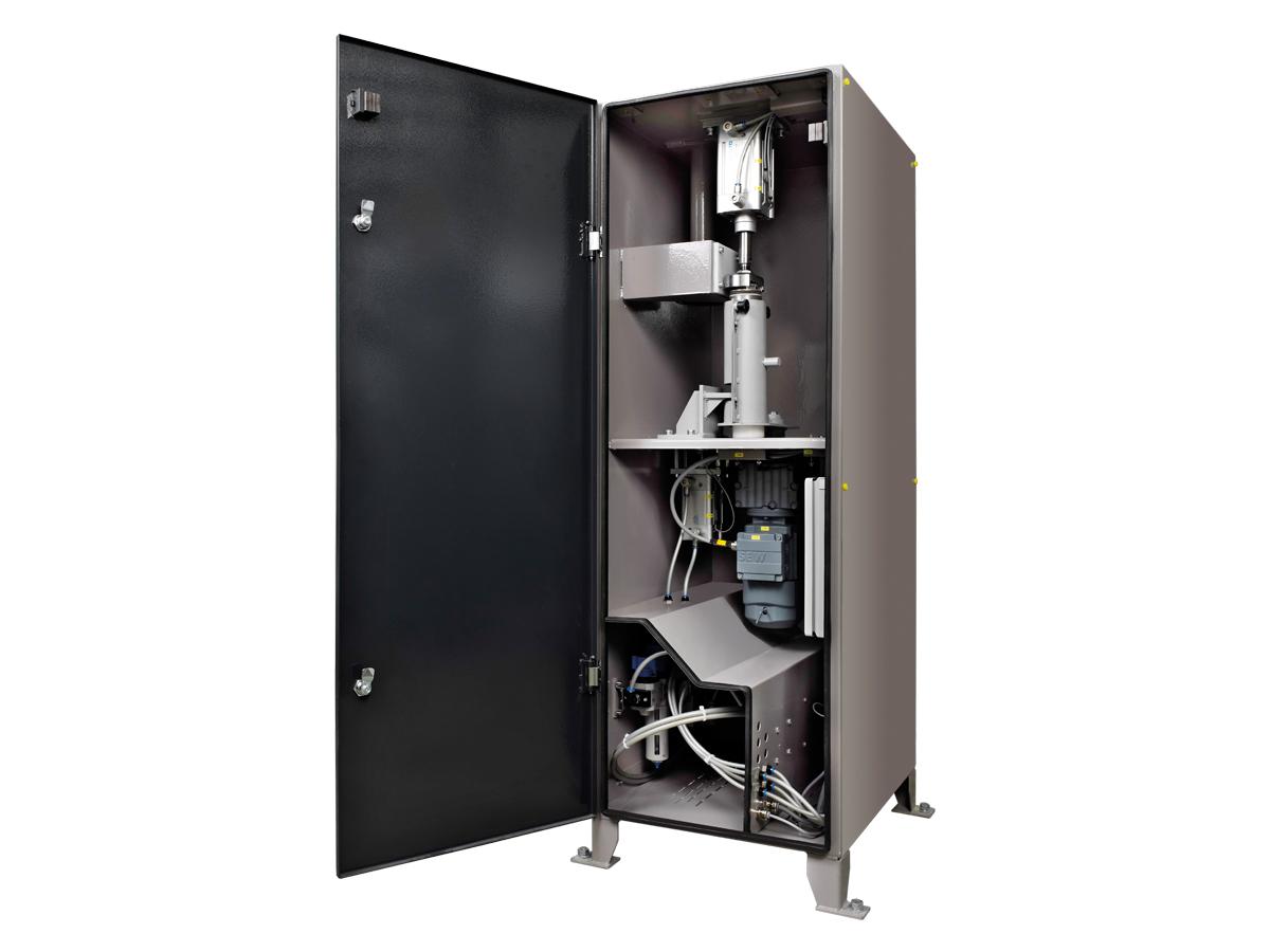 Rohrpostanlage Vollautomatische Sendestation geöffnet