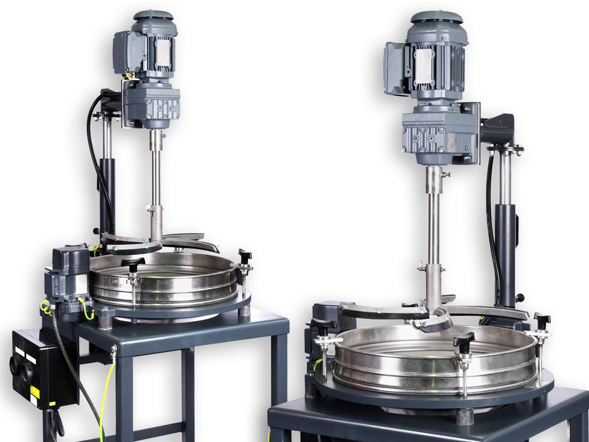 SIEBTECHNIK Kontrollsiebmaschine PERFLUX 501 mit motorischer Bürstenvorrichtung
