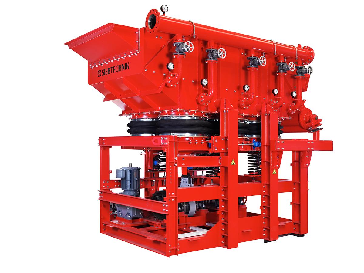 Schwingsetzmaschine SK 16-33, Einsatz im Bereich Erz