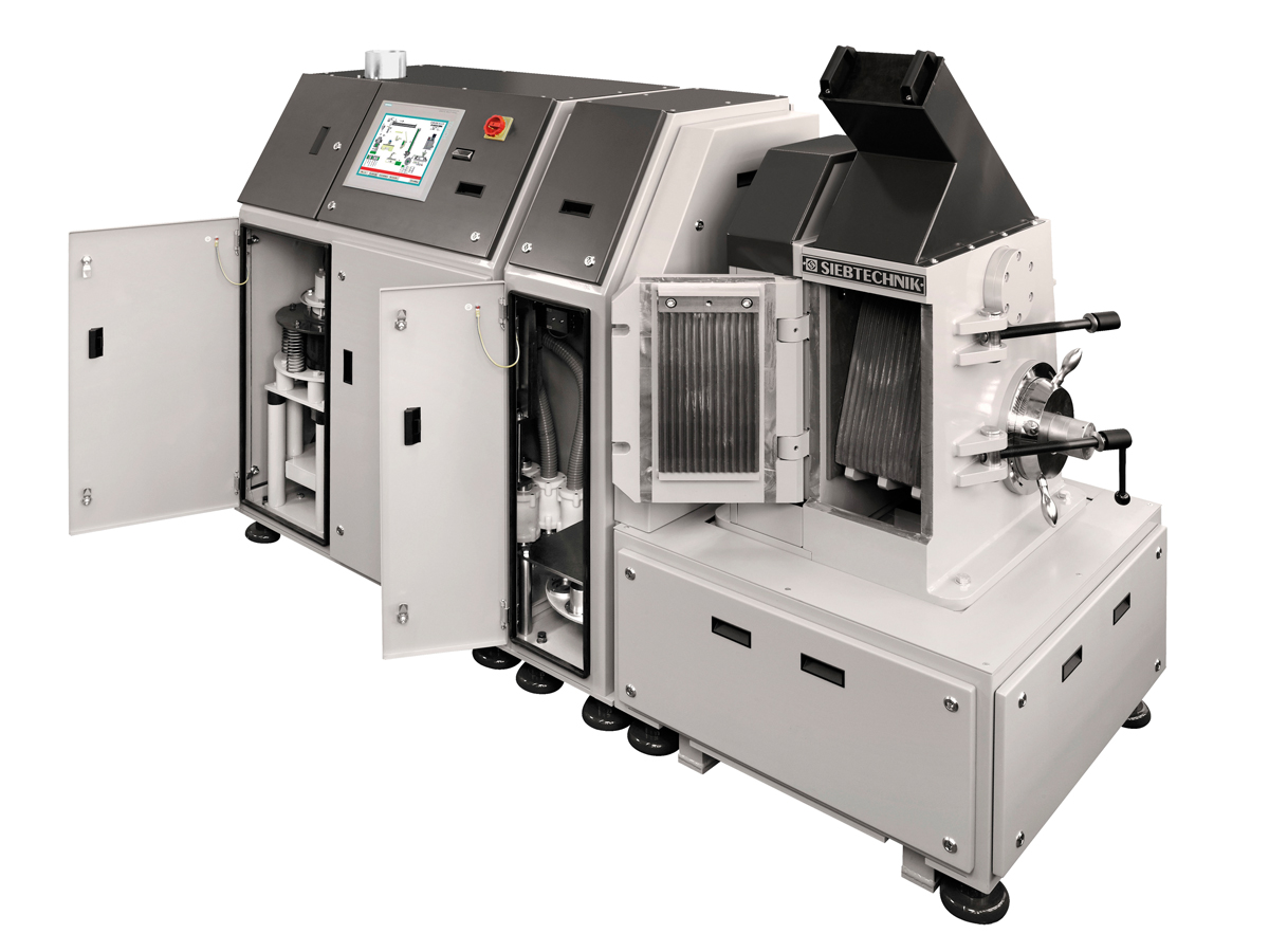 Automatische Mahl- und Pressanlage AMP, offen