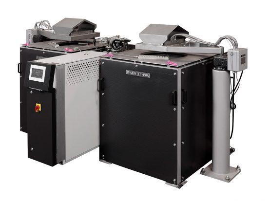 Probentrockner / Taumeltrockner zur chargenweisen Trocknung von feuchten Schüttgütern