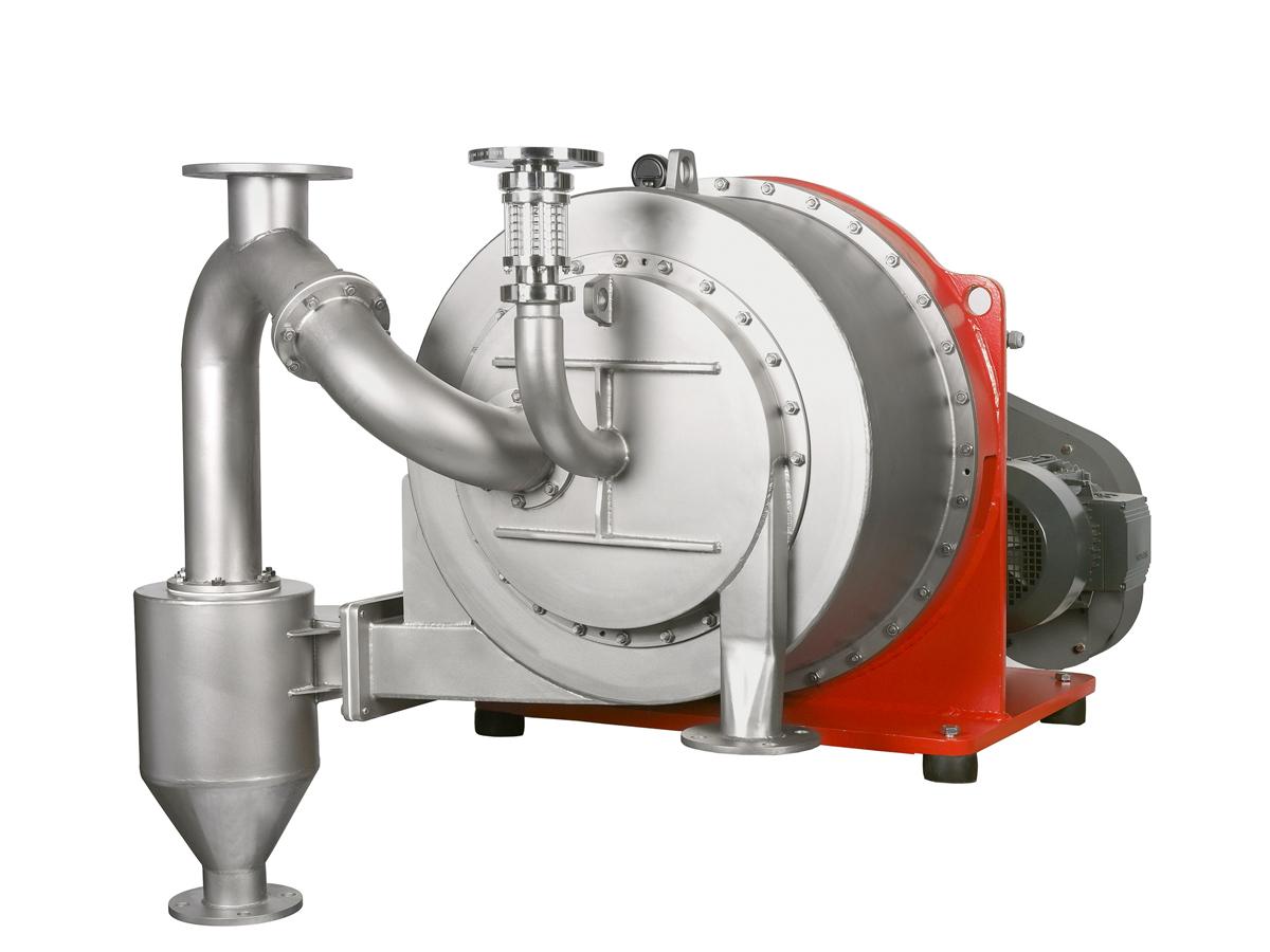 Gleitzentrifuge TURBOCASCADE mit Filtratzyklon, Siebzentrifuge zum die Entwässerung von grobkörnigen Feststoffen