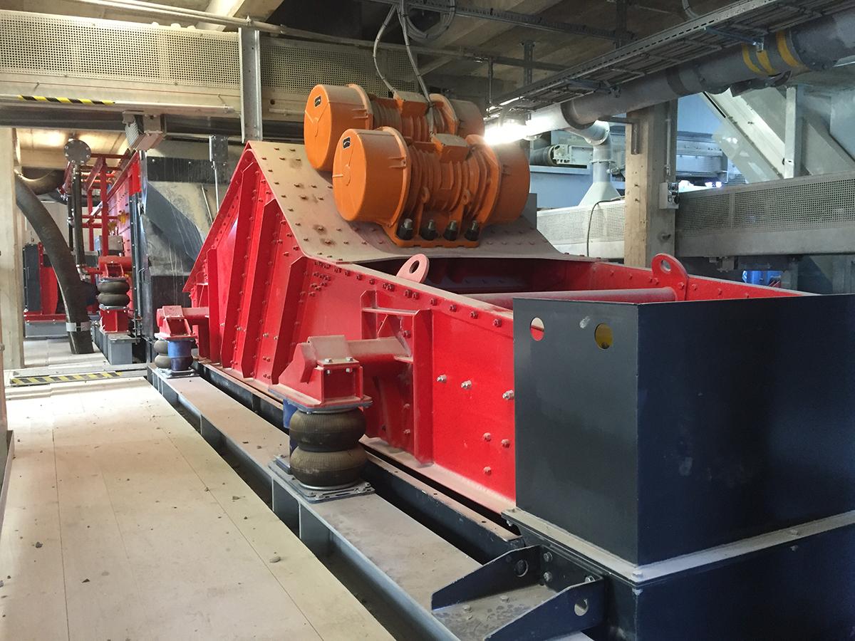 Zubehoer Linearschwngsiebmaschine HR 13,5-50-I WS Luftfederung